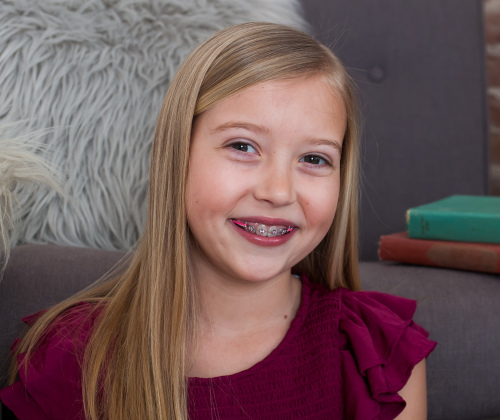 boy with braces at Robinson Orthodontics