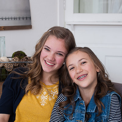 Kate and Gracie, patients at Robinson Orthodontics