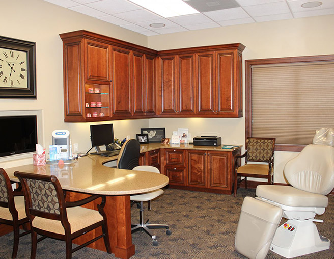 Robinson Orthodontics Office, desk area.