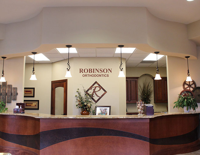 Robinson Orthodontics Office, front desk.