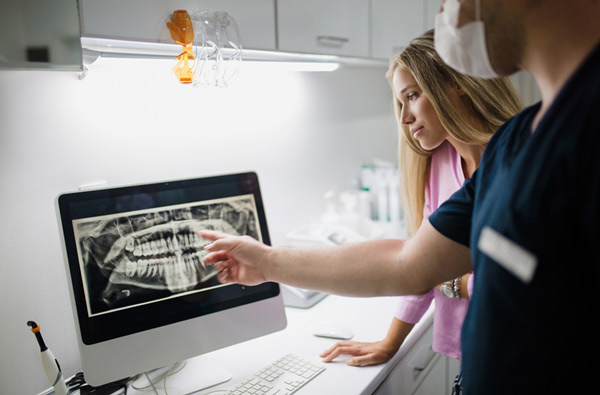 Viewing Digital X-rays for Robinson Orthodontics